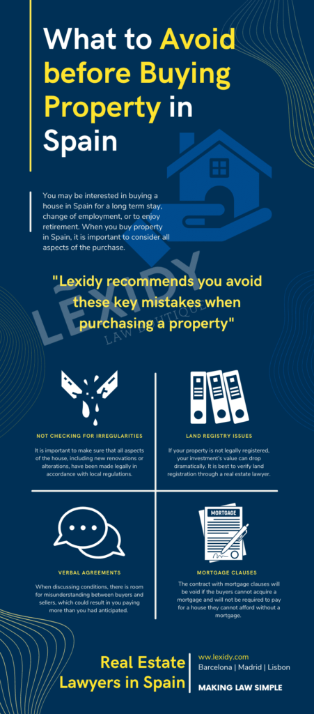 Infographic What to Avoid before Buying Property in Spain 2021